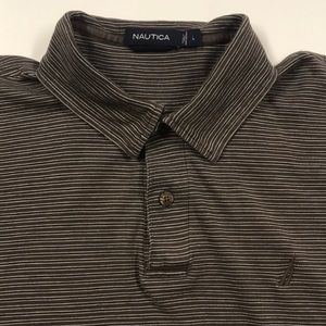 NAUTICA Mens Large Brown Golf Polo Shirt